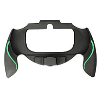 ZedLabz soft touch controller grip handle attachment for Sony PS Vita PSV - (Black & green) PS Vita