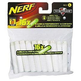 Nerf Nstrike Glow In Dark Darts 16 Pack Figurines and Sets