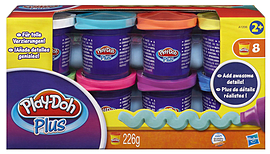 Play-Doh Plus Modelling Clay (Set of 8 Pots) Traditional Games