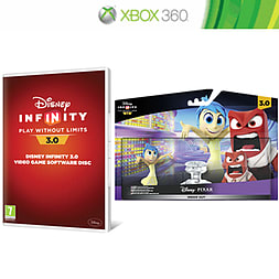 Disney Infinity 3.0 Software Disc with Inside Out Play Set Bundle and Toy Box Takeover Expansion Game Piece Xbox 360