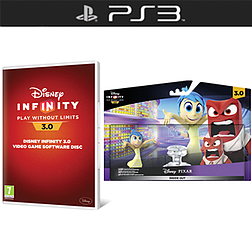 Disney Infinity 3.0 Software Disc with Inside Out Play Set Bundle and Toy Box Takeover Expansion Game Piece PlayStation 3