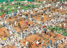 Jan van Haasteren The Tennis Court Puzzle 1000 pcs screen shot 1