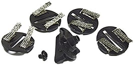 Scalextric Round Guide Blade, 4 Braid Plates, 1 Screw Scaled Models