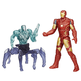 Marvel Avengers Age of Ultron Iron Man Mark 43 vs Sub-Ultron 001 Action Figure Pack Figurines and Sets