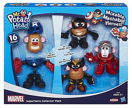 Mr Potato Head Marvel Mixable Mashable Super Hero Collector Pack Figurines and Sets