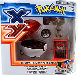Pokemon Catch N Return Pokeball Bunnelby And PokeBall Figurines and Sets