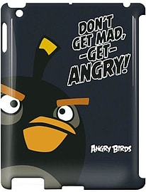 Gear4 Angry Birds Hard Clip-On Case Cover for iPad 3 - Black Bird Tablet