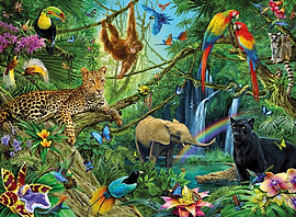 Jungle Puzzle (200 Pieces) Traditional Games