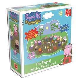 Peppa Pig Giant Muddy Puddle Jigsaw Puzzle (35 Pieces) Traditional Games