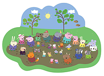 Peppa Pig Giant Muddy Puddle Jigsaw Puzzle (35 Pieces) screen shot 1