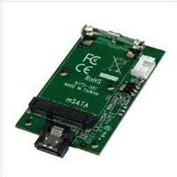 StarTech.com SATA to mSATA SSD Adapter - Port Mounted SATA to Mini SATA Converter Card PC