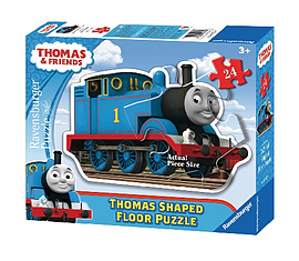 Thomas Shaped Giant Floor Puzzle, 24 pc Traditional Games
