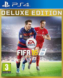FIFA 16 Deluxe Edition PS4 Cover Art