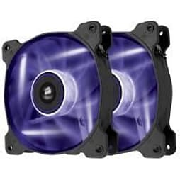 Corsair Air Series AF120 LED Purple Quiet Edition High Airflow 120mm Fan Dual Fans PC