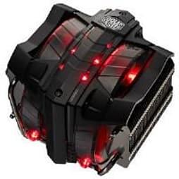 Cooler Master V8 Dual Fan CPU Cooler Heatpipe Vapour Chamber (Black) PC