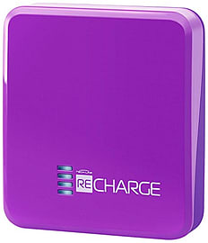 Techlink Recharge Li-polymer Portable Battery USB Charger 2500mAh (Purple) Mobile phones