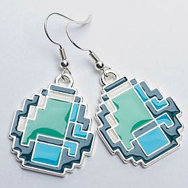 ACC MINECRAFT DIAMOND EARRINGS Clothing