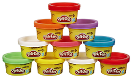Playdoh Party Pack In Tube Pre School Toys