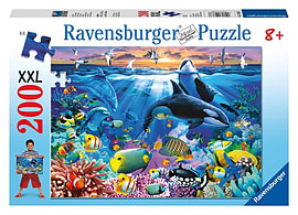 Oceanic Life Puzzle (XXL, 200 Pieces) Traditional Games
