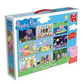 Peppa Pig 9-in-1 Jigsaw Puzzle Pack Traditional Games