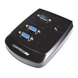 Startech Converge A/v 2 Port Vga Video Splitter Wall Mountable Video Splitter 2 Ports Cascadable PC