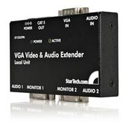 Startech Vga Video Extender Over Cat 5 With Audio Monitor/audio Extender External Up To 150 M PC