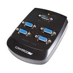 Startech Converge A/v 4 Port Vga Video Splitter Wall Mountable Video Splitter PC