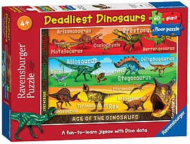 Deadliest Dinosaurs Giant Floor Puzzle, 60pc Traditional Games