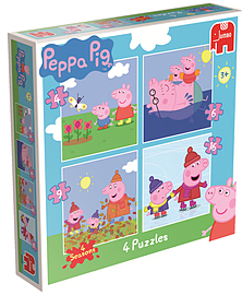 Peppa Pig 4-in-1 Jigsaw Puzzles ( 4 Seasons) Traditional Games