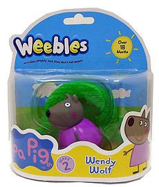 Peppa Pig Weebles Wendy Wolf Pre School Toys
