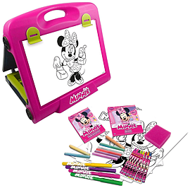 Disney Minnie Mouse Double Sided Art Easel With 30+ Piece Accessory Set (cdim083) Pre School Toys