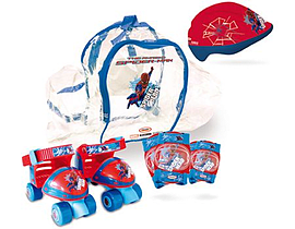 The Amazing Spider-man Quad Skates Set (quads Skates, Protective Helmet/pads and Bag) (ospi002) Pre School Toys