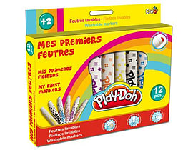 Play-doh 12 Washable Markers (cpdo005) Pre School Toys