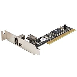 Startech Low Profile 2 Port Ieee-1394 Firewire Pci Card With Digital Video Editing Kit PC