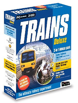 Trains Deluxe (3 DVD CASE SET containing 2 CD-ROMs and 1 DVD) PC