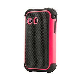 Dual Layer Shockproof Case For LG L40 - Hot Pink Mobile phones