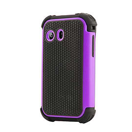 Dual Layer Shockproof Case For LG L40 - Purple Mobile phones