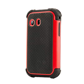 Dual Layer Shockproof Case For LG L40 - Red Mobile phones