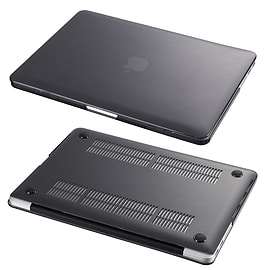 Hard Shell Frosted Plastic Case For Apple MacBook Air 13 Inch - Black Tablet