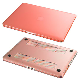 Hard Shell Frosted Plastic Case For Apple MacBook Pro 15 Inch - Red Tablet