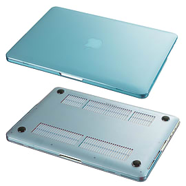 Hard Shell Frosted Plastic Case For Apple MacBook Pro Retina 15 Inch - Light Blue Tablet