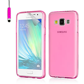 Ultra Slim Crystal Gel Case For Samsung Galaxy A5 - Hot Pink Mobile phones