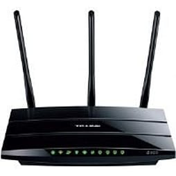 TP-Link N600 TD-W8980 300Mbps (5GHz) 300Mbps (2.4GHz) Dual-Band Wireless ADSL2+ Modem Router (Black) PC