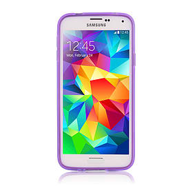 Ultra Slim Crystal Gel Case For Samsung Galaxy Alpha - Purple Mobile phones