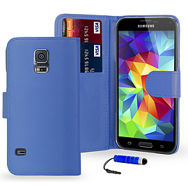 Book PU Leather Wallet Case For Samsung Galaxy S6 - Deep Blue Mobile phones