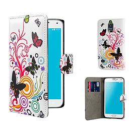 Design Book PU Leather Wallet Case For Samsung Galaxy S6 - Colour Butterfly Mobile phones