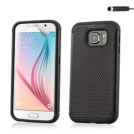Dual Layer Shockproof Case For Samsung Galaxy S6 - Black Mobile phones