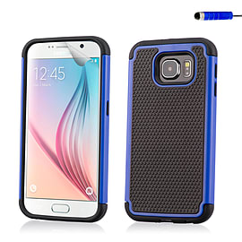 Dual Layer Shockproof Case For Samsung Galaxy S6 - Deep Blue Mobile phones