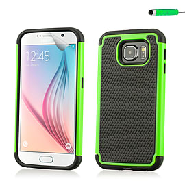 Dual Layer Shockproof Case For Samsung Galaxy S6 - Green Mobile phones