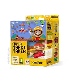Super Mario Maker + Amiibo Limited Edition Wii U Cover Art